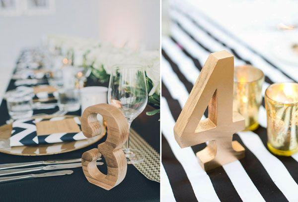 12 Anniversaire D/éco Vintage Num/éro de table en bois Chiffres Tables Mariage 1