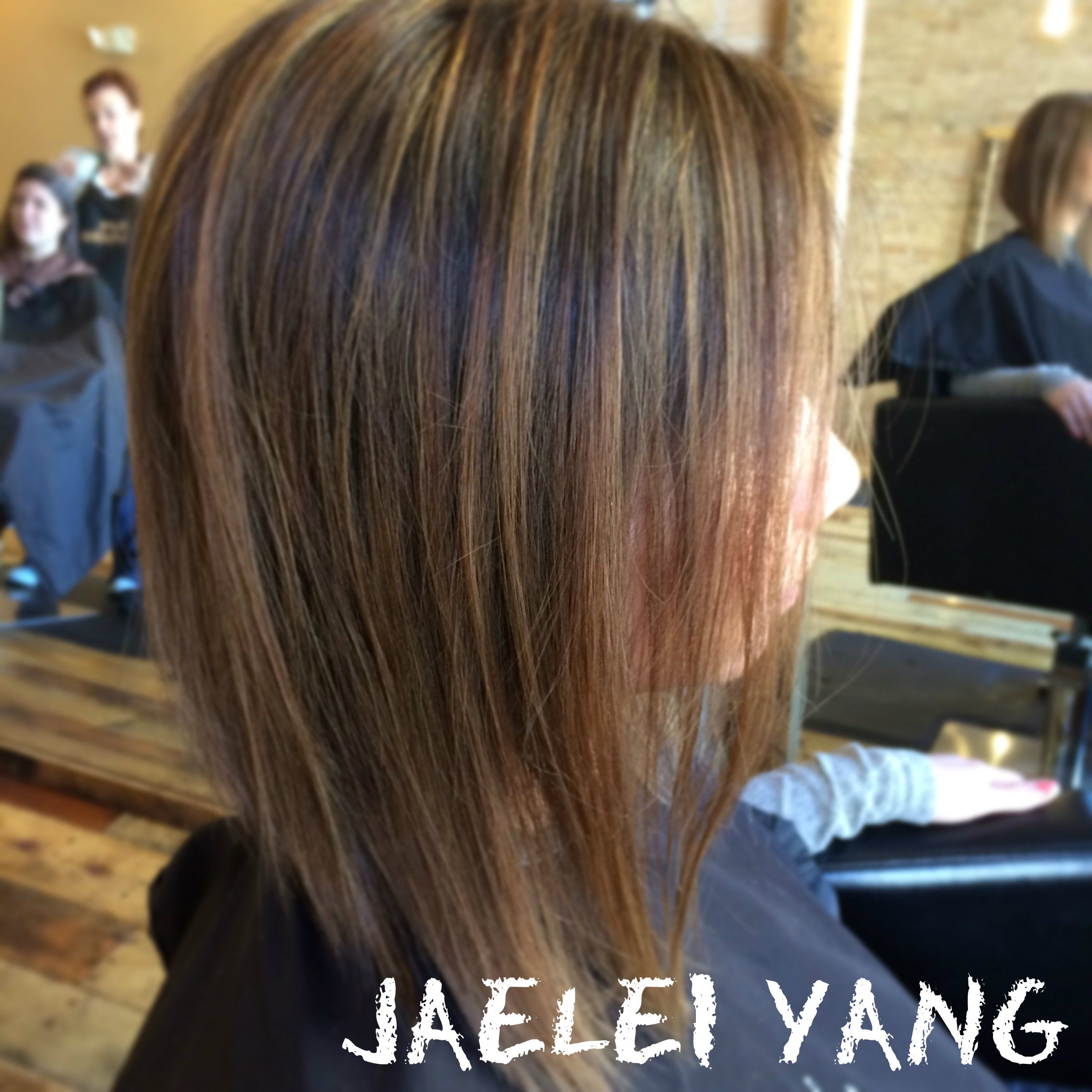 Subtle highlights on Asian Hair by Jaelei Yang s