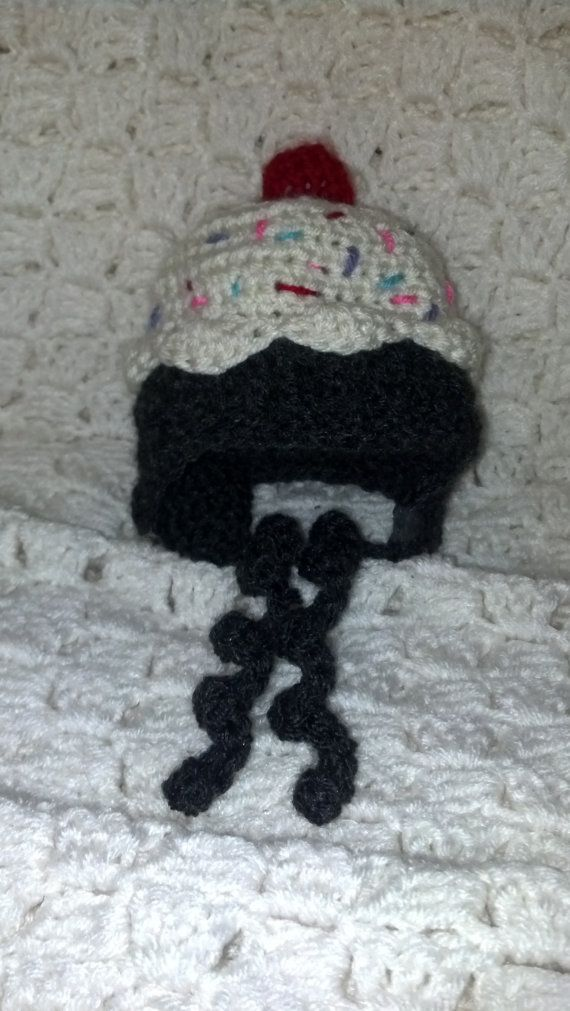 Newborn Cupcake Beanie by huntingwidowcrafter on Etsy, $15.00