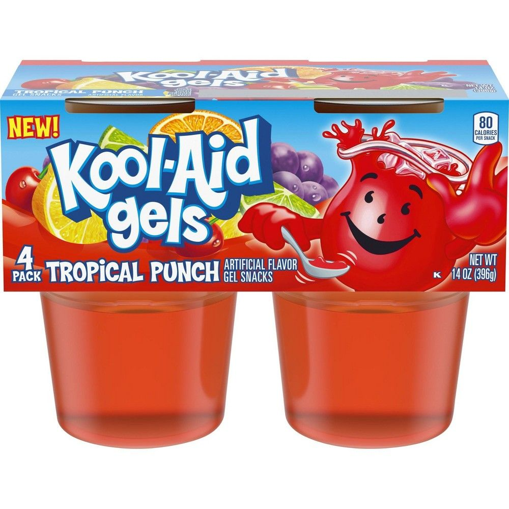 Kool Aid Tropical Fruit Gelatin 4pk 13 5oz In 2021 Kool Aid Tropical Punch Kool Aid Flavors