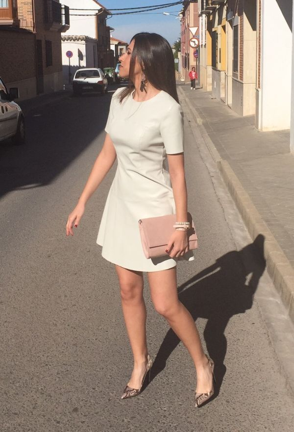 Vestido blanco zapatos blancos