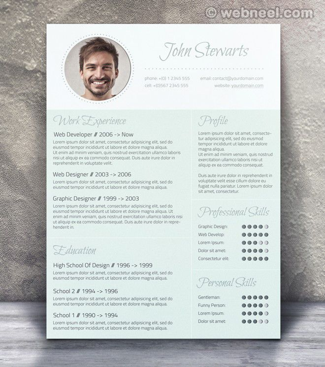50 Creative Resume Design Samples that will make you rethink your - resume design samples