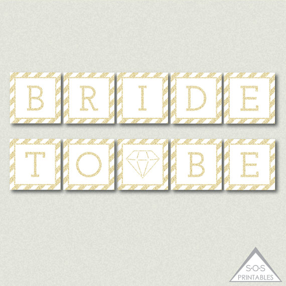 graphic relating to Free Printable Bridal Shower Banner identify Bride toward Be Banner, Printable Bridal Shower Banner
