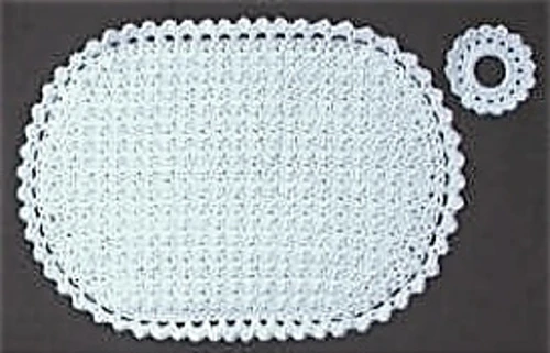 Oval Placemat Set Placemats Patterns Crochet Placemat Patterns Crochet Placemats