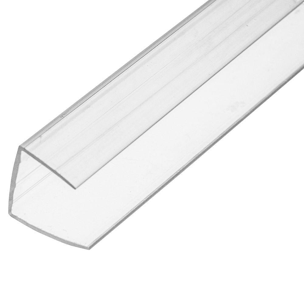 8 Ft Plastic U Profile For 16 Mm Panels Roof Panels Metal Pergola Polycarbonate Roof Panels