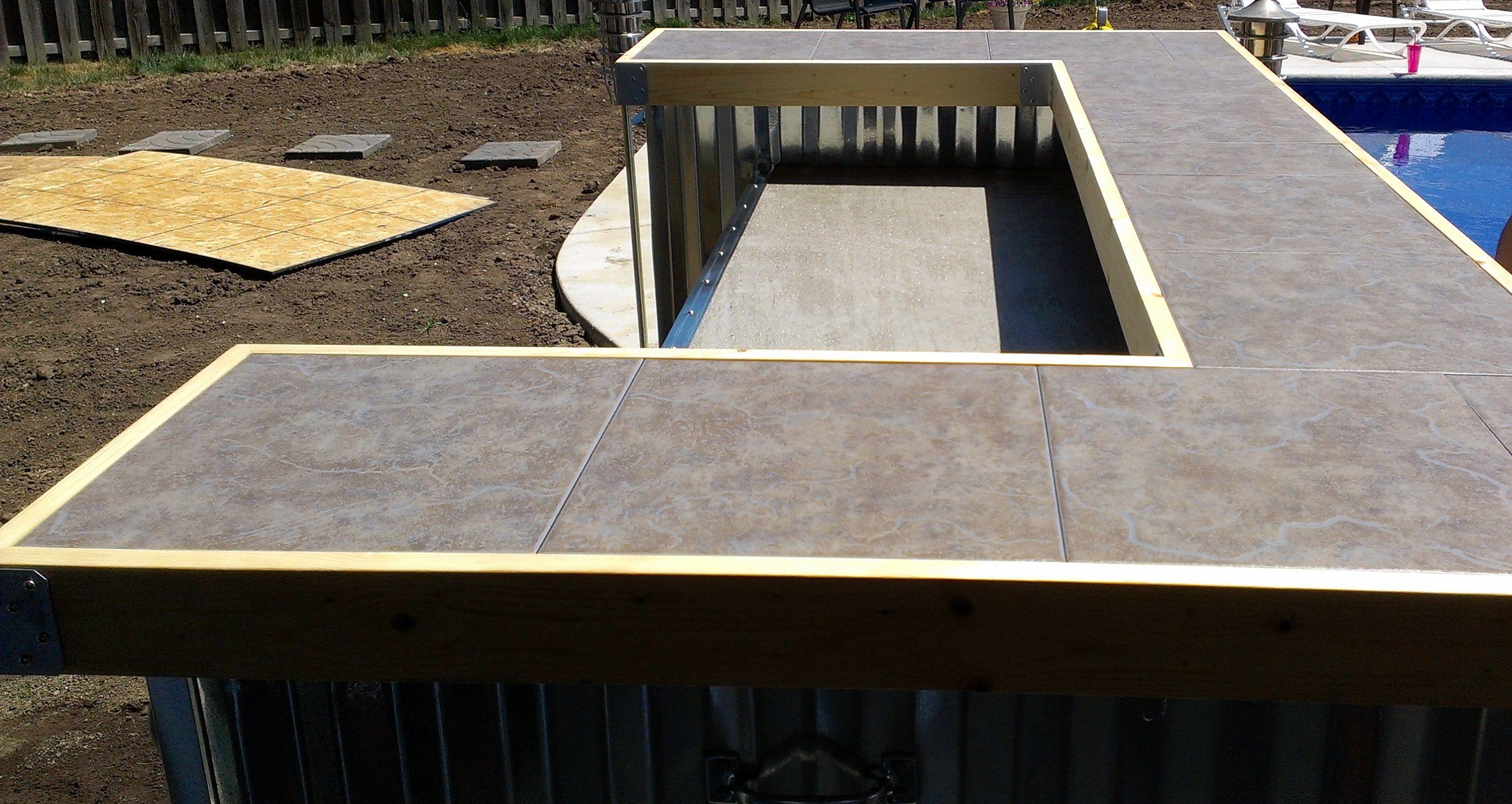 Tile Upper Countertop Mobile Outdoor Bar Pinterest