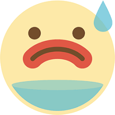 Thirsty emoji