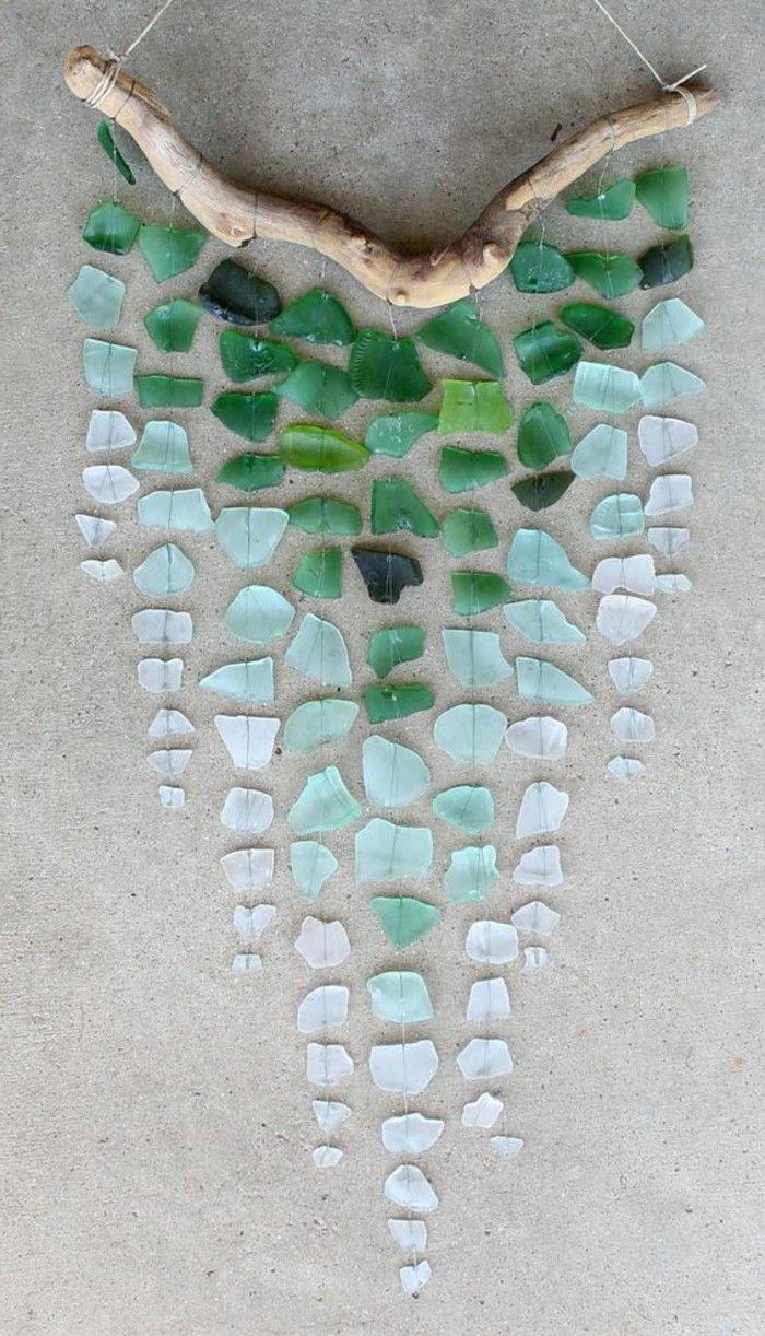 GroBartig Basteln Mit Treibholz Ast Glas Wand Dekoration Diy Wanddeko Selber Machen
