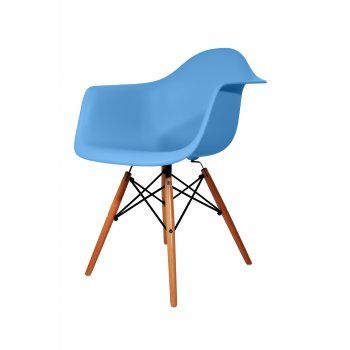 Elegant Charles Eames Style DAW Blue Dining Chair   Charles Eames From MDM FURNITURE  UK