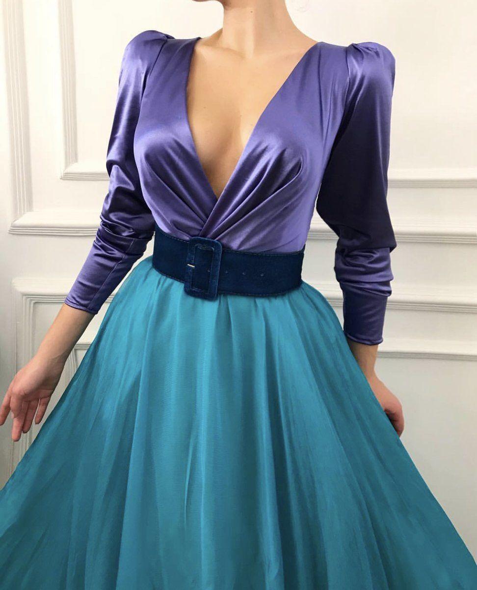 Noble Violet Teuta Matoshi Gown