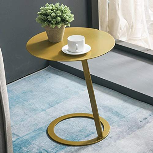 Fyong Metal Side Table Iron Art Sofa End Small Round