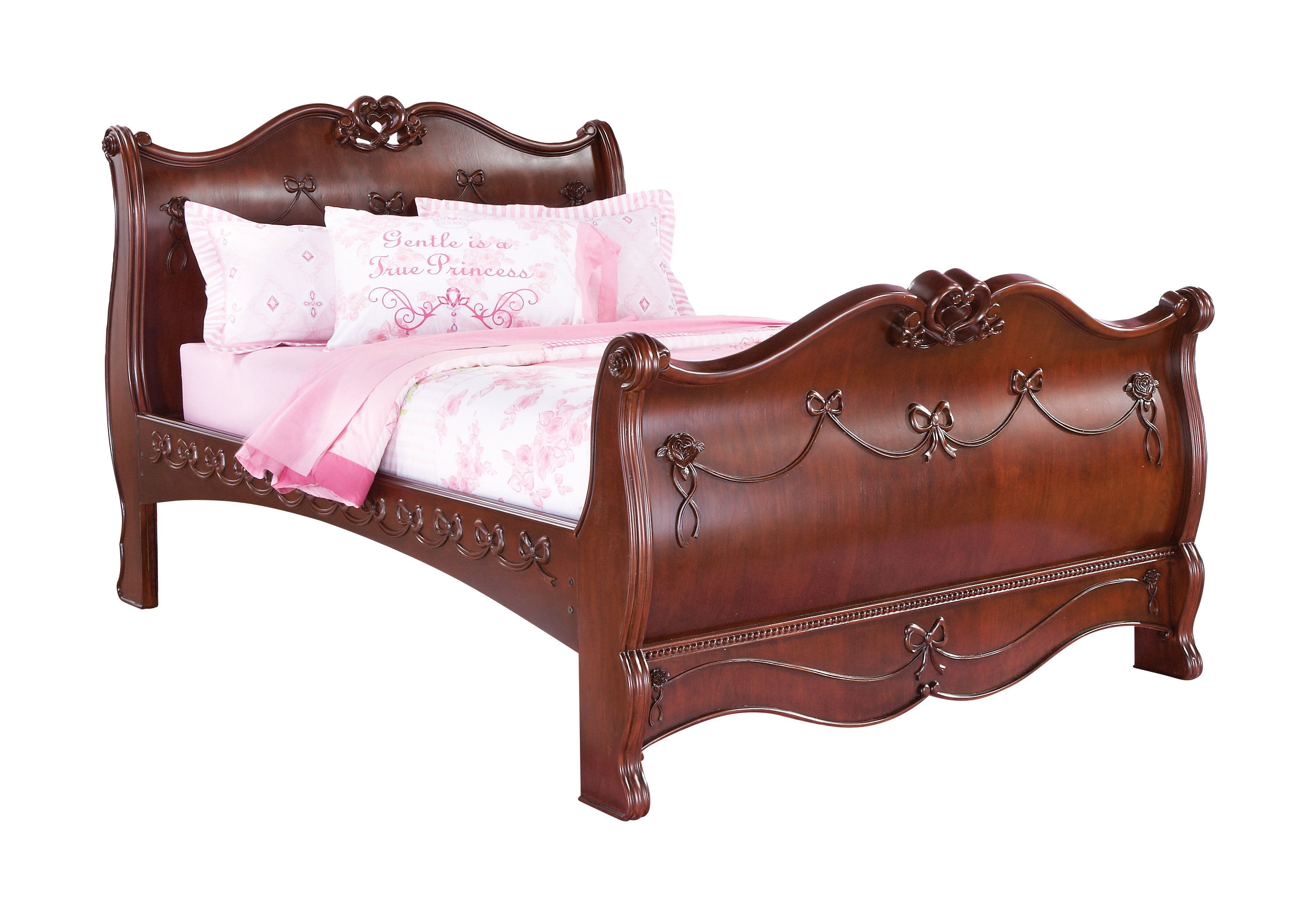 Disney Princess Cherry 6 Pc Full Sleigh Bedroom Bedroom Furniture Stores Rooms To Go Furniture Furniture