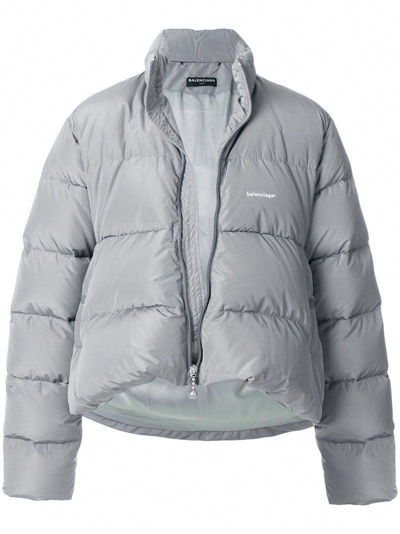 Balenciaga Balenciaga C Shape Puffer Jacket Balenciaga Cloth Leatherjacketsformenbrown Grey Jacket Mens Jackets Grey Leather Jacket [ 1067 x 800 Pixel ]