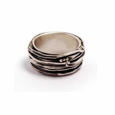 anillo rustico de plata