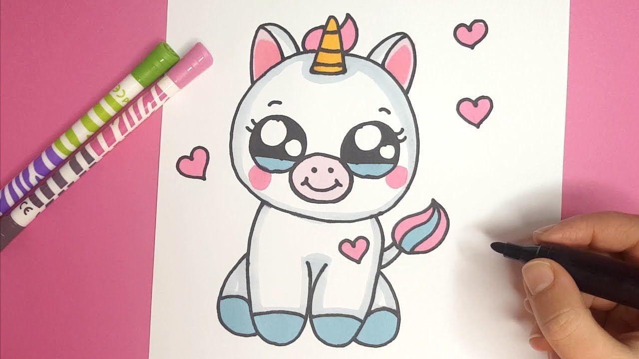Wie Zeichnet Man Ein Niedliches Baby Einhorn Kawaii Bilder Wohnzimmer Bilder Malen Bilder Ideen Lustige Drawing For Kids Unicorn Drawing Baby Unicorn