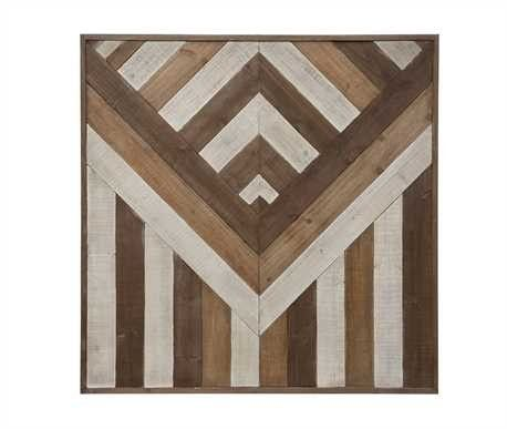 Make A Stylish Statement In The Foyer Or Den With This Eye Catching Wall  Decor, Showcasing Pieced Wood Arranged In A Bold Geometric Design.