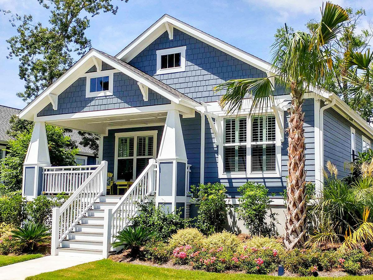 Plan 50170ph Beach Bungalow Plan With Split Beds In 2021 Craftsman Style House Plans Beach House Plans Cottage House Plans