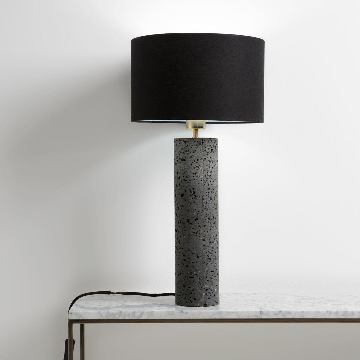 Lampe A Poser Pierre De Lave Methana H55 9 Cm Taille Taille