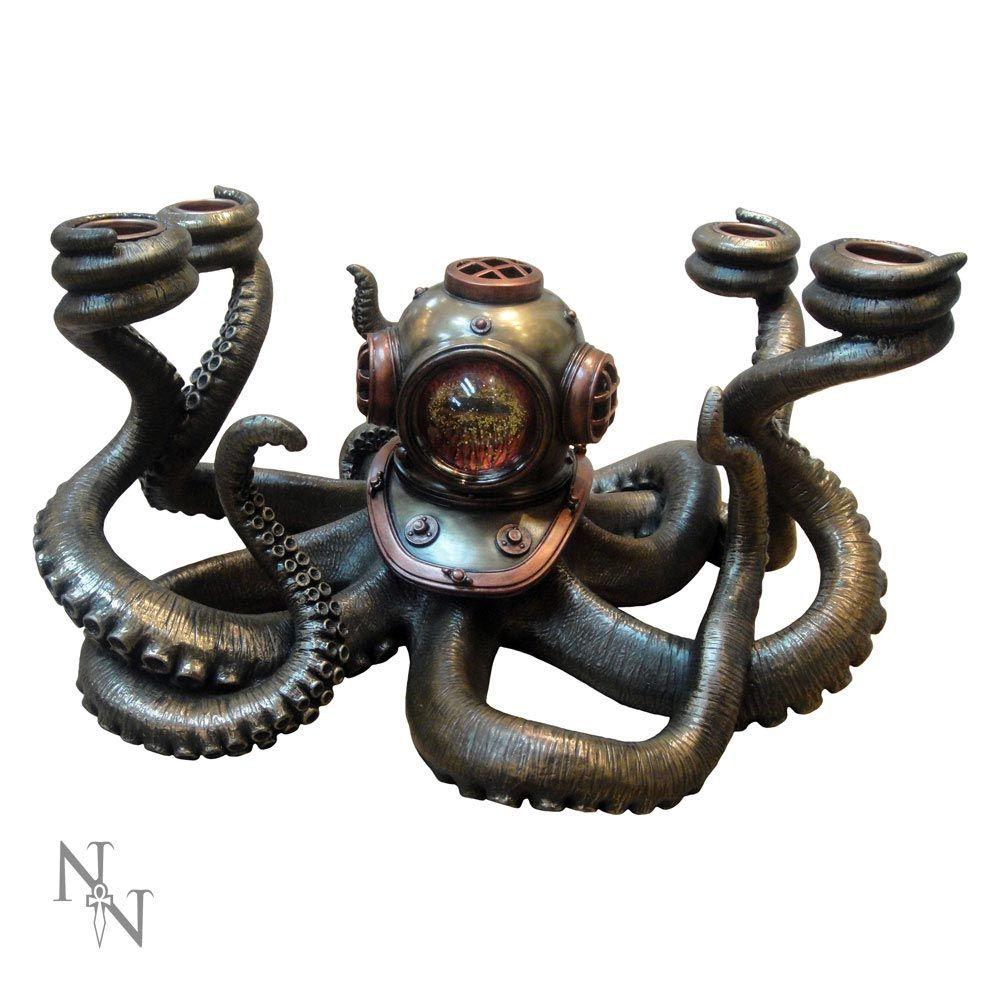 Steunk Deko steunk octopus kerzenleuchter dekoration voodoomaniacs