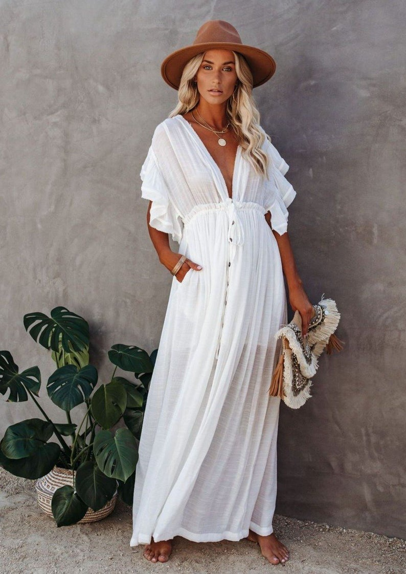 Boheme Long Dress Boho Dress Summer Dress Lace Dress Beach Dress Loose Dress Flower Dress Maxi Dress Flower Dress Tunic Dress In 2021 Plus Size Beach Wear Beach Dress Long Beach Dress [ 1121 x 794 Pixel ]