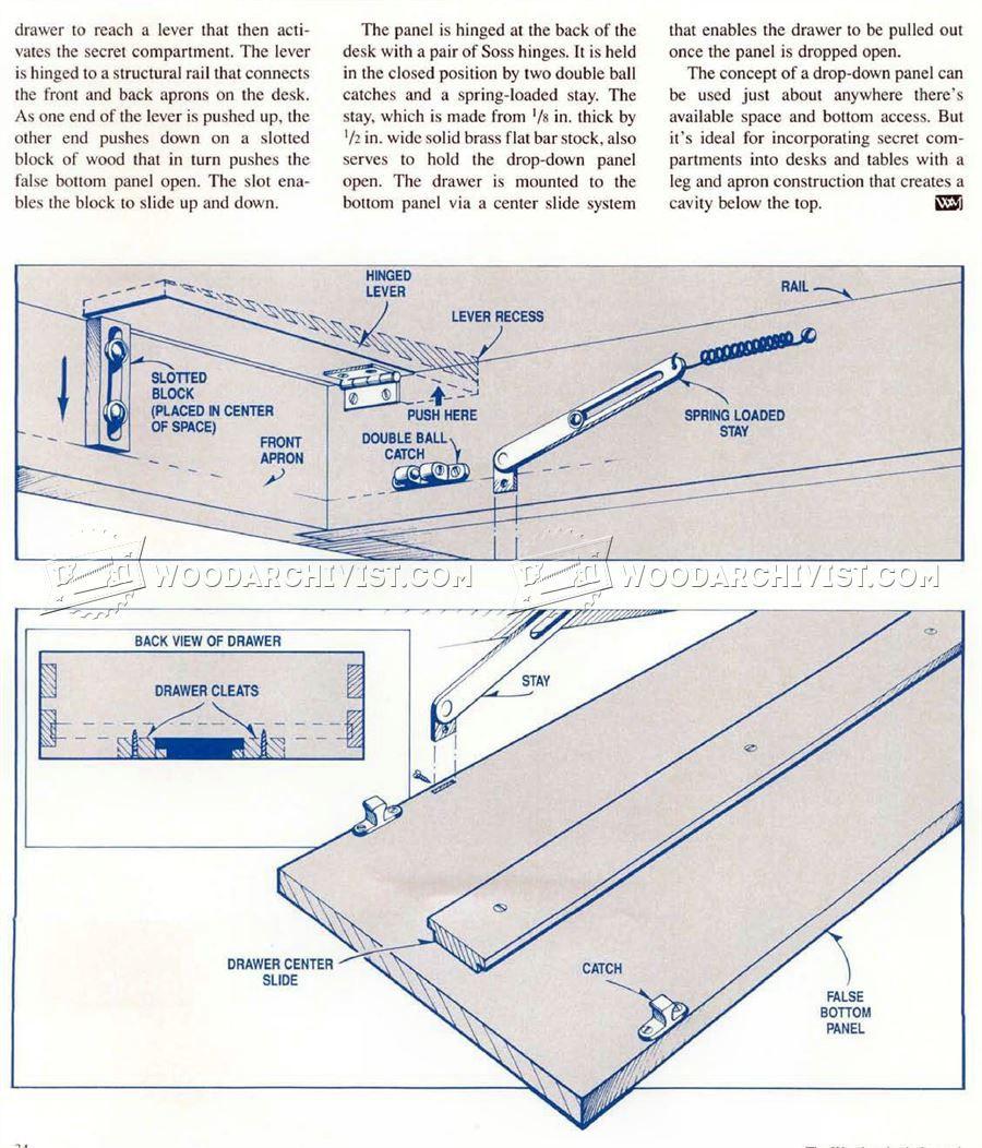 1439 Secret Compartment Furniture Furniture Plans Secret Compartment Furniture Secret Compartment Compartment