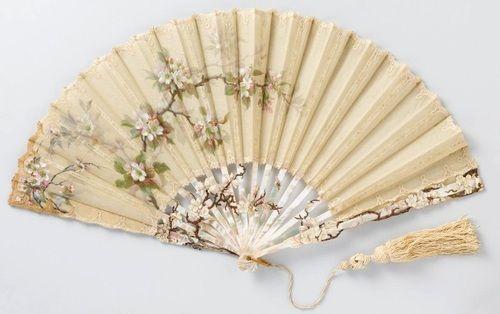1890 Victorian Fan | The History of Fans | Antique fans, Hand fan ...