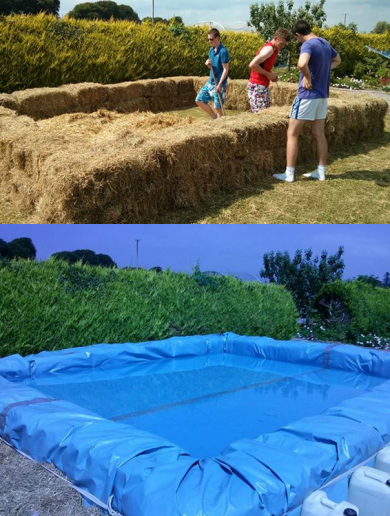 Hay bale pool on pinterest redneck do it yourself - How to build a swimming pool yourself ...
