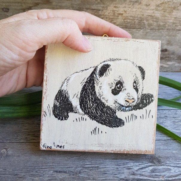 panda print panda gifts miniature picture cute panda kids room