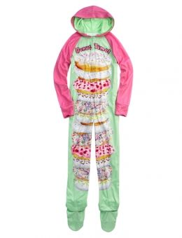 Donut Fleece Footed Pajama | Pretty PJs | Pinterest | Donuts ...