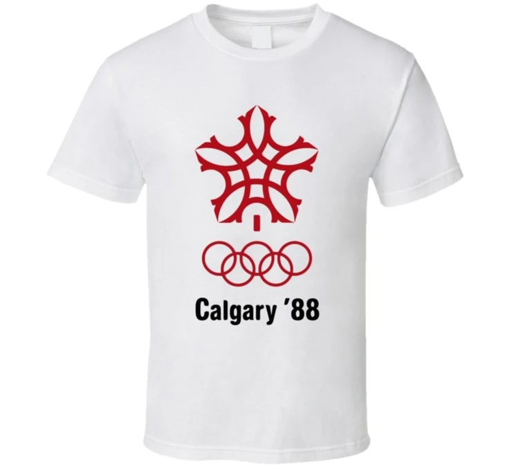 Calgary Olympics Logo 1988 Men's TShirt in 2020 Mens