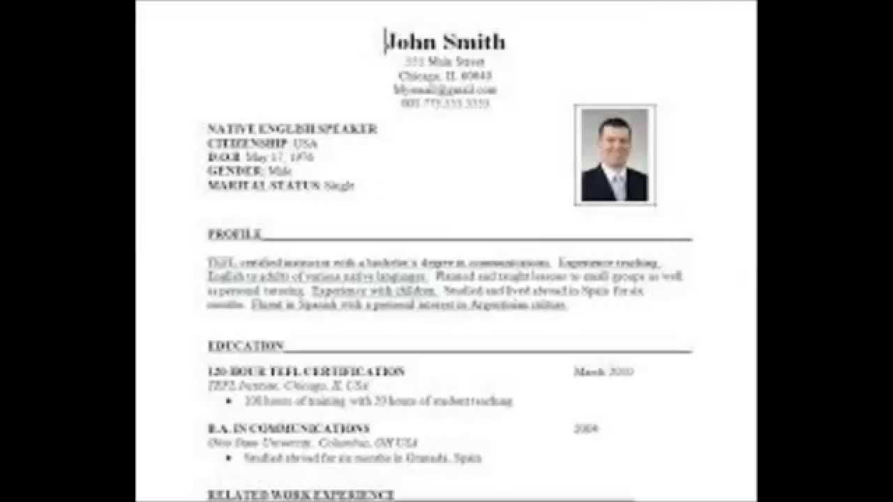 How To Prepare Resume Format For Experienced,fresher,students ...