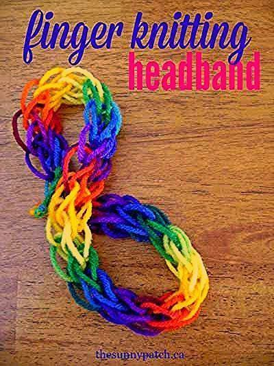 Photo of 15 Simple Finger Knitting Projects for Kids | Hapiness is Handmade #knitting pro…