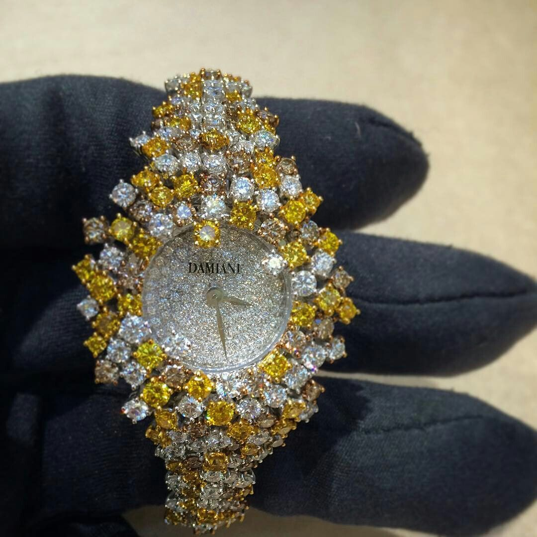 watch #mimosa #diamond #damiani #yellow #champagne