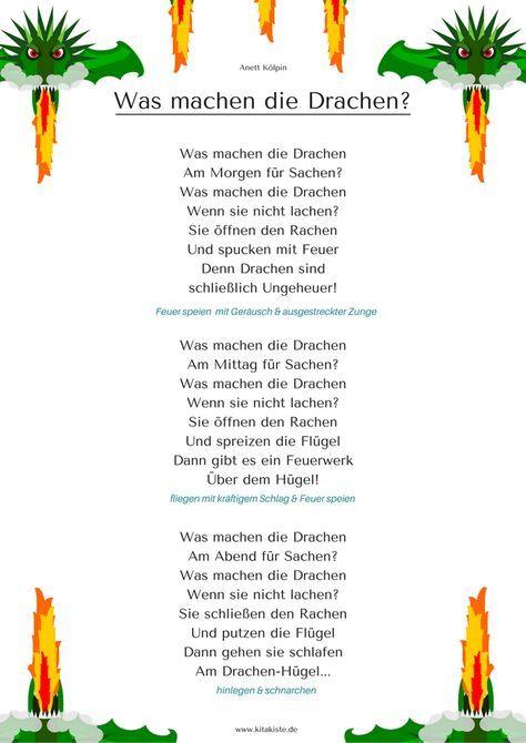 Die feuerwehr fingerspiel kita kinder gedichte for Drachen basteln im kindergarten