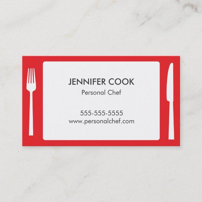 Red Placemat Business Card