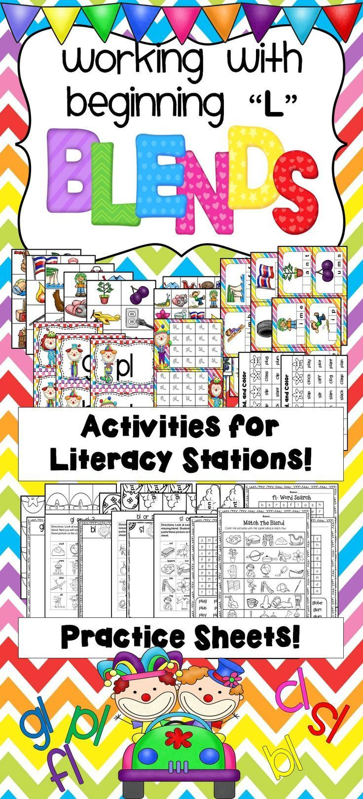 L Blends Activities And Printables Pinterest Activities