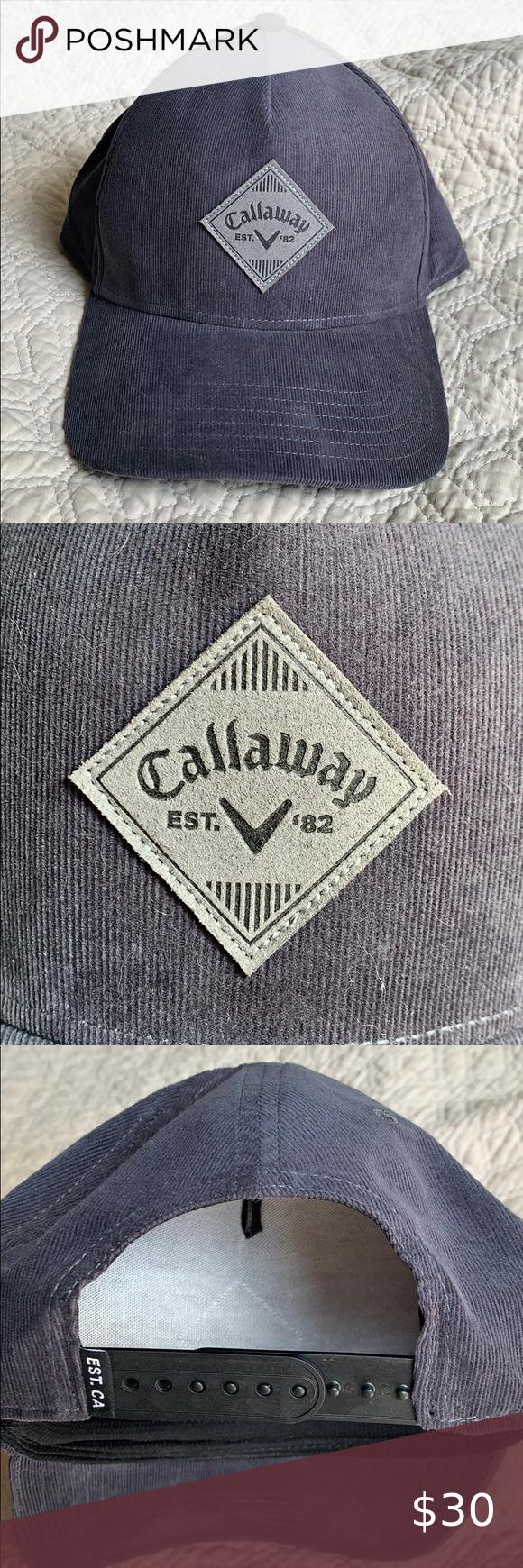 Callaway Corduroy Hat Hat Fashion Corduroy Women Accessories Hats