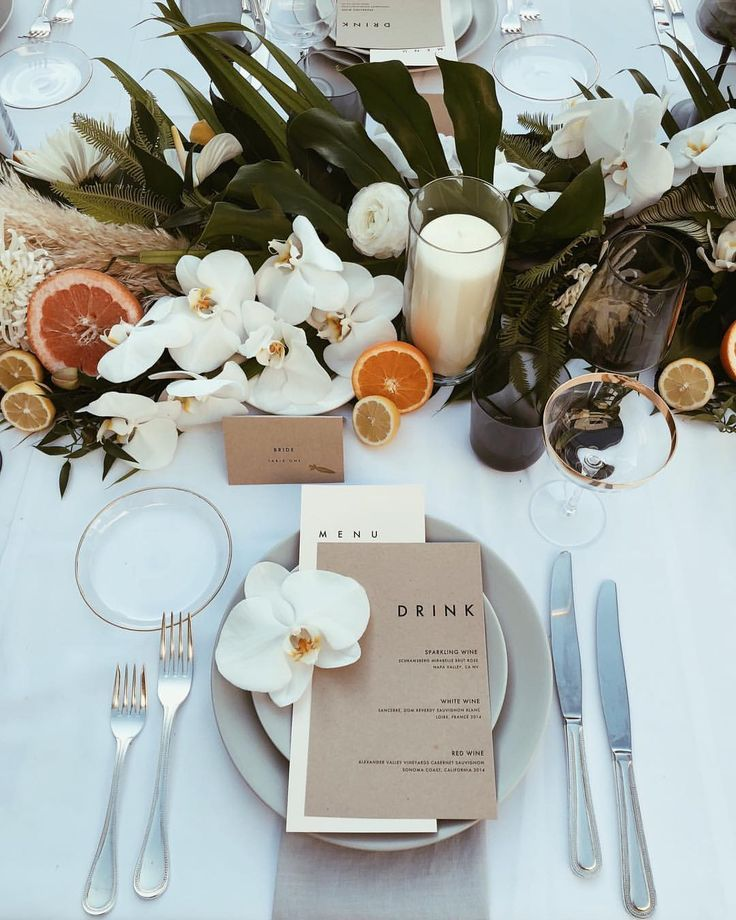 "annie armstrong on Instagram: ""modern tropical citrus dream…that's a thing… #weddingmenuideas"
