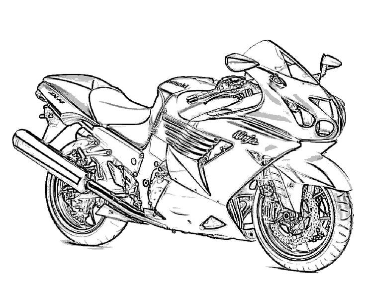 Free Printable Motorcycle Coloring Pages For Kids | Pinterest ...