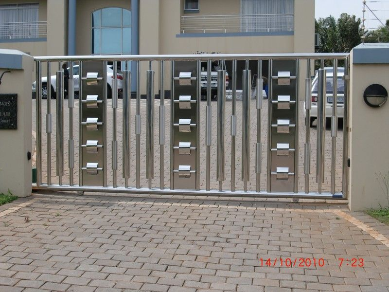 stainless steel driveway gates designs