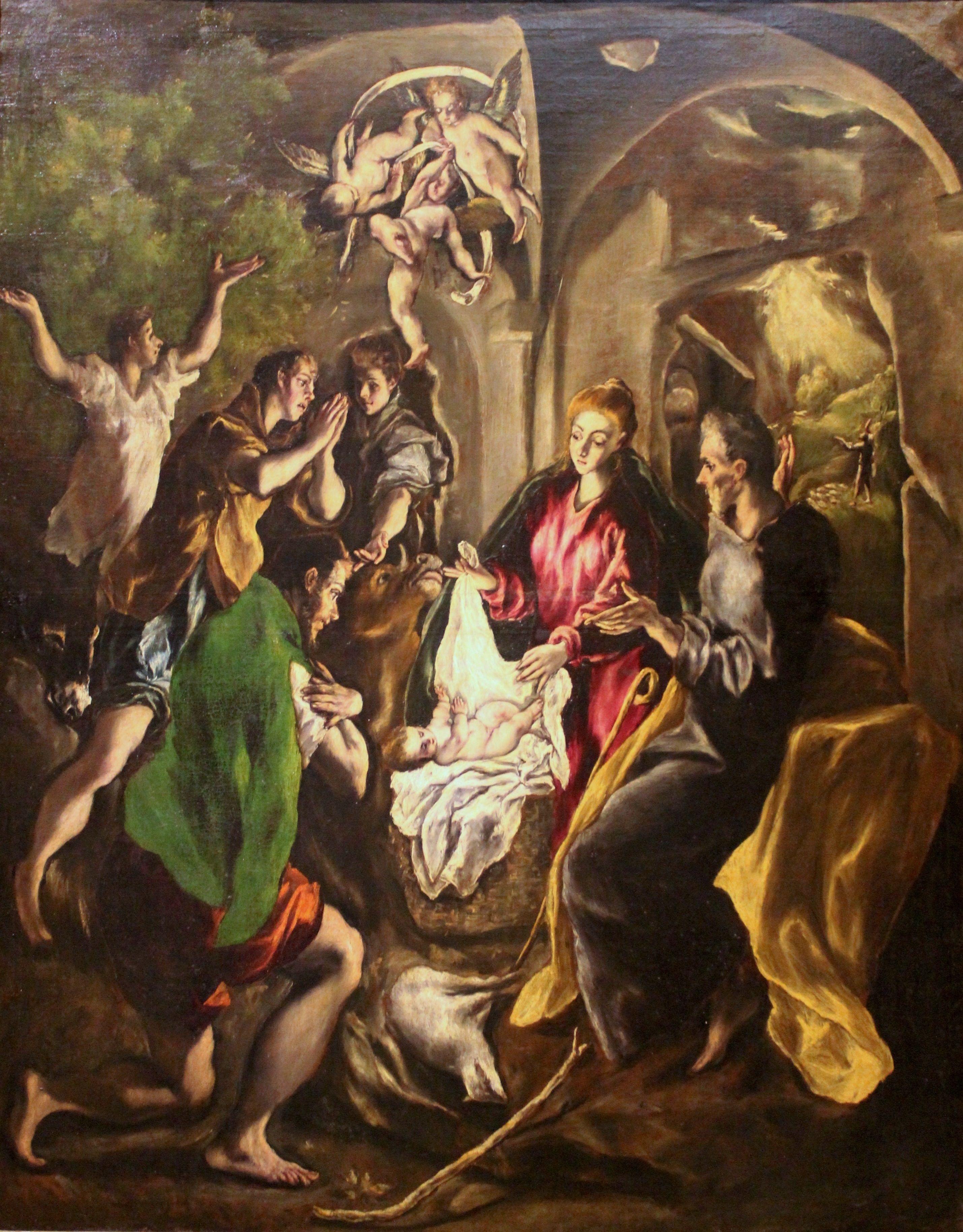 Resultado de imagen de Adoración de los pastores (1612 greco 1609