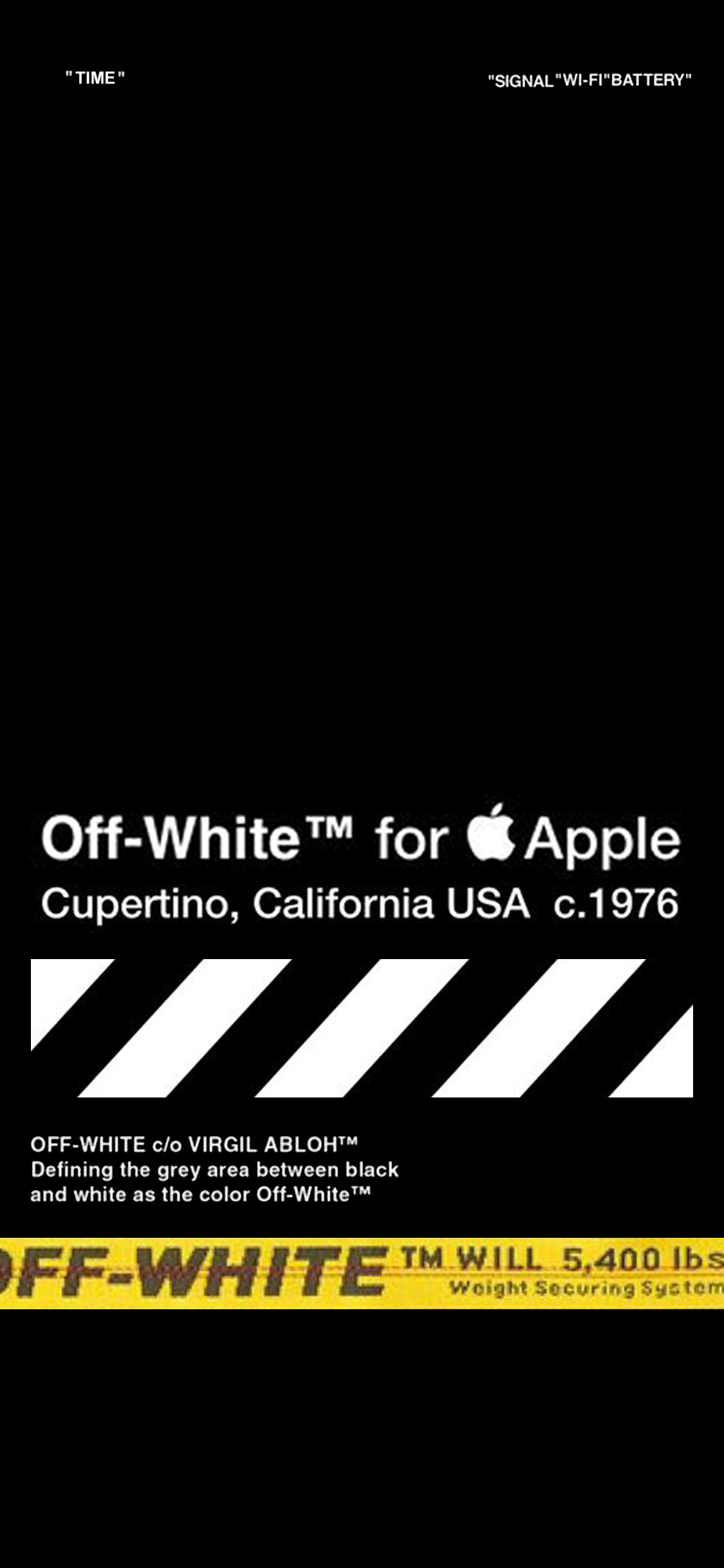 OFF WHITE - HOME SCREEN for iPhone X | Wallpaper in 2019 | White wallpaper for iphone, Iphone ...