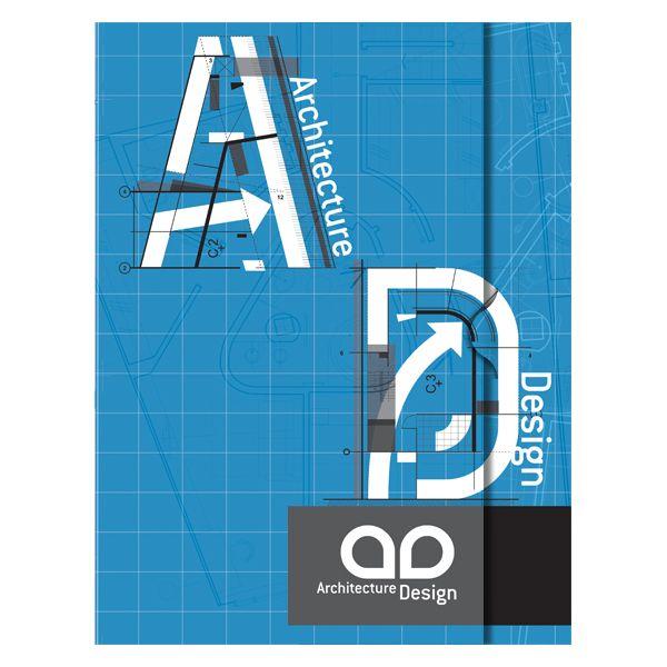 Architecture blueprint pocket folder design template front view architecture blueprint pocket folder design template front view malvernweather Image collections