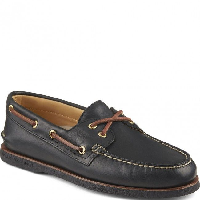 Gold Cup 2-Eye Boat Shoes - Black