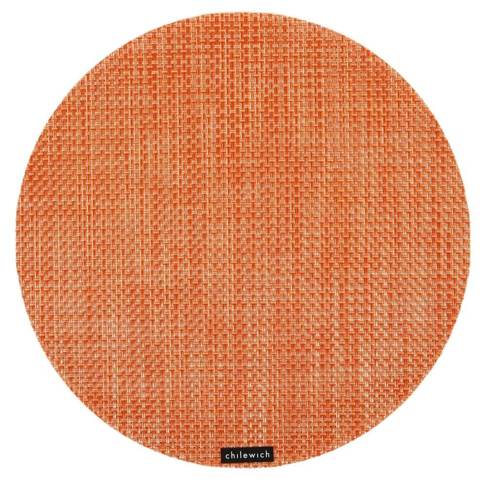 Basketweave Round Placemat Coral From Chilewich Chilewich Placemats Chilewich Placemat