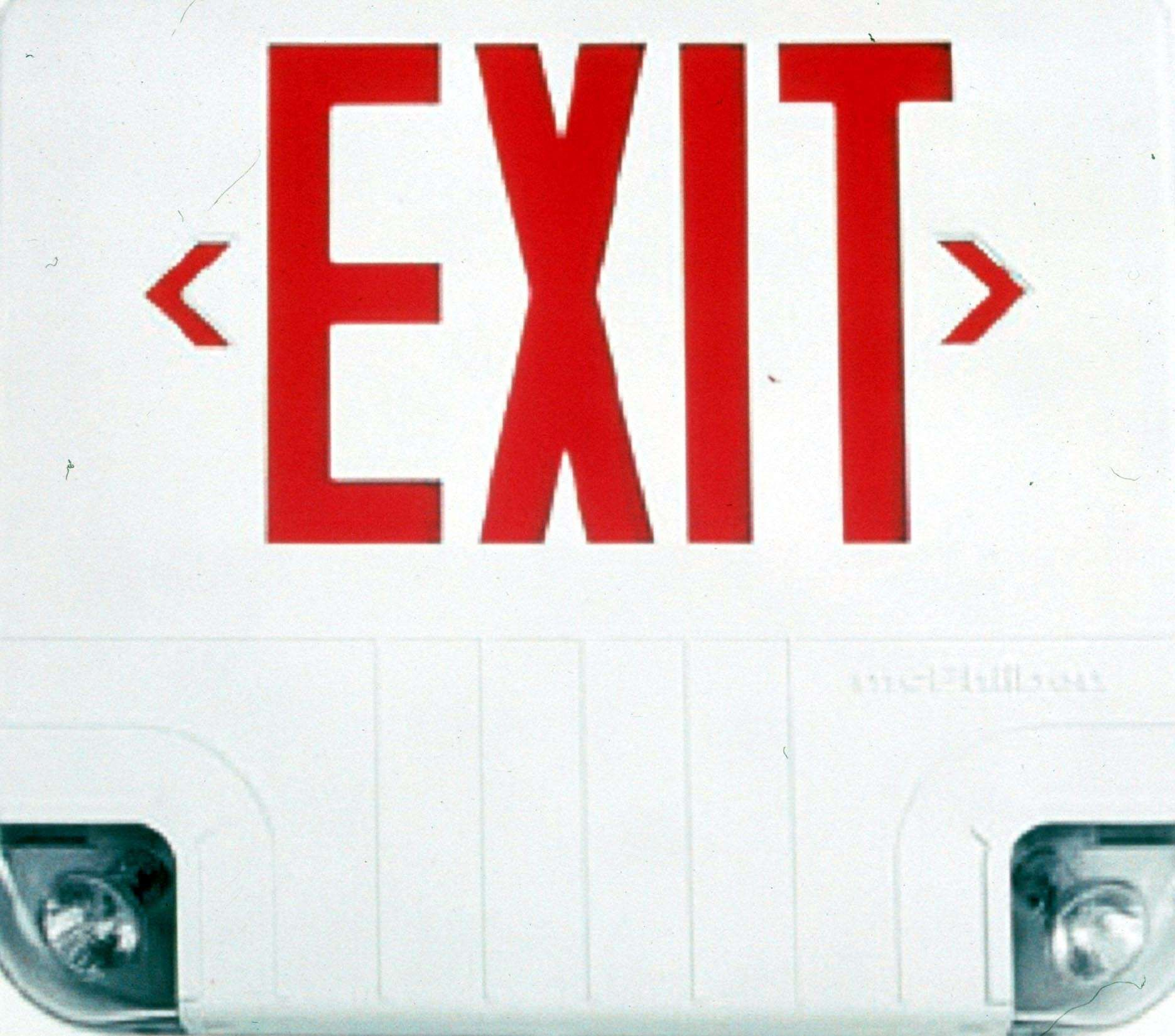 EXIT SIGNS Exit Sign Incorporates Two Emergency L&S Day