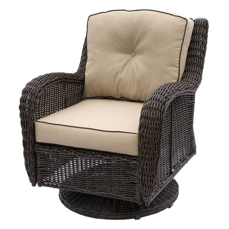 Tremendous Grand Isle Wicker Swivel Chair Brown Dede J Wicker Theyellowbook Wood Chair Design Ideas Theyellowbookinfo