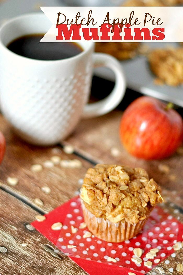 """Dutch Apple Pie Muffins - A healthier way to start your morning off with a """"dessert""""! Plus, I'm sharing 4 Tips for a stronger morning routine! {The Love Nerds} #McCafeMyWay #Ad"""