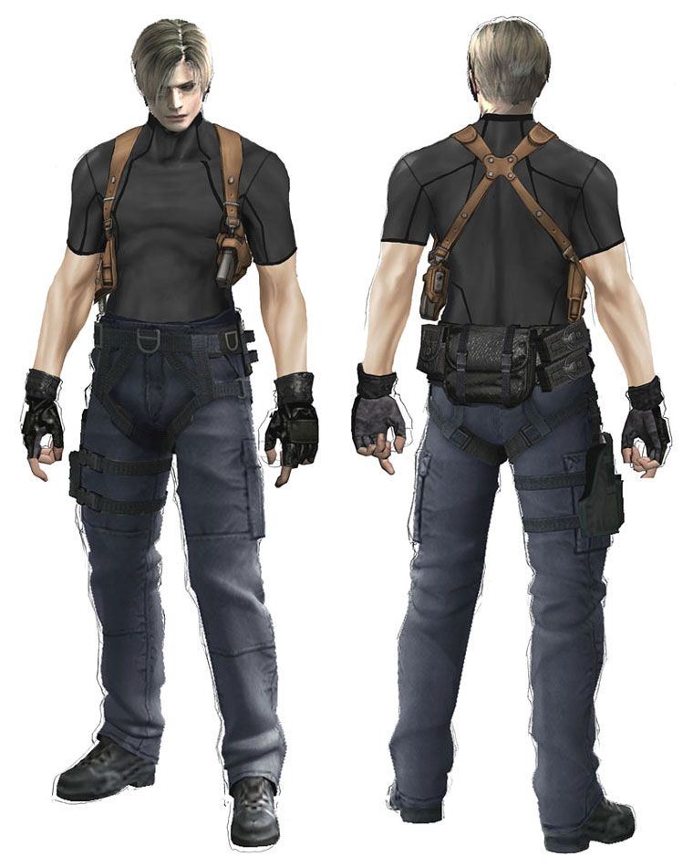 Leon S Kennedy Concept Characters Art Resident Evil 4