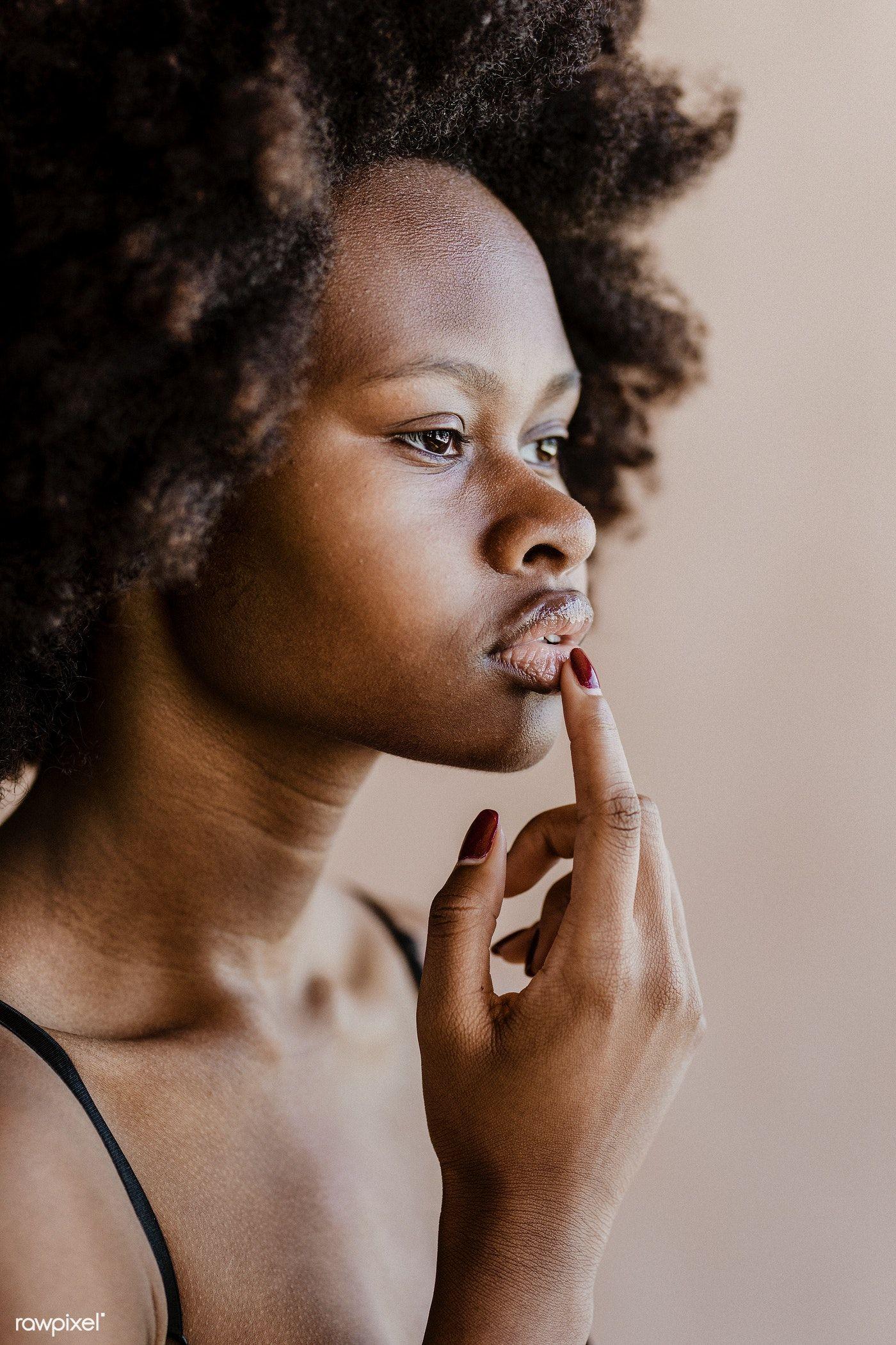 Download Premium Image Of Beautiful Black Woman With Afro Hair 2025330 Beautiful Black Women Black Beauty Women Afro Hairstyles